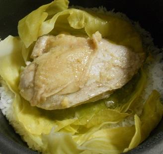 炊飯器で作るアジアンチキンライス3