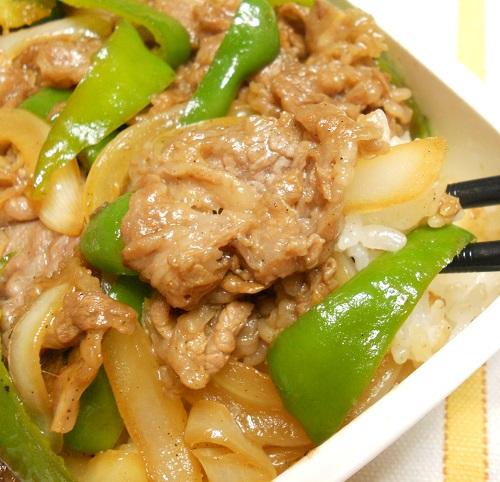わさび醤油ソースの焼き肉丼弁当12