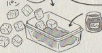 プラムジャム入りパンプディング図