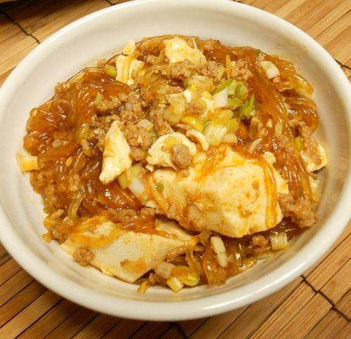 ピリ辛春雨豆腐10