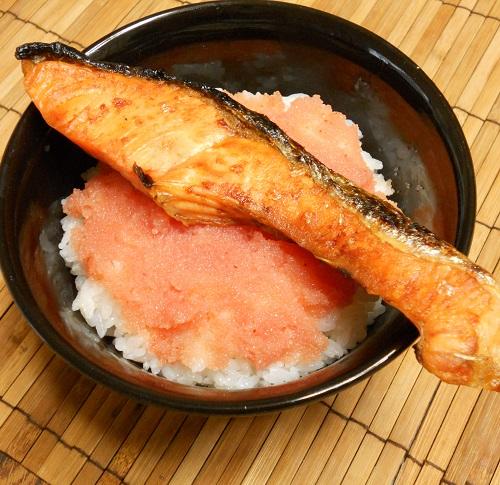 鮭と明太子の他人丼5