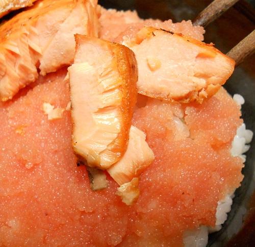 鮭と明太子の他人丼6