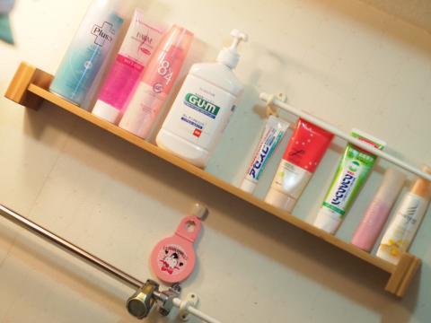 洗面所の飾り棚