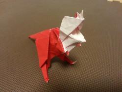 折り紙で恐竜製作