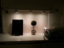 【DIYとインテリア生活】 IKEAリビングインテリアLEDスポットライト(INREDA:インレーダ)