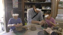 子供と陶芸