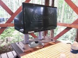 【必見キャンプ生活】 キャンプ自作品コールマンツーバーナー置き台を実際に試す!