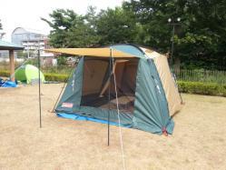 【必見キャンプ生活】 コールマン2ルームテント(ラウンドスクリーン2ルームハウス)を1人で設営♪