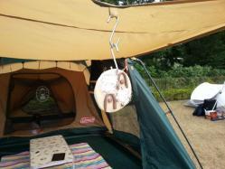 【必見キャンプ生活】 陶芸で自作したテント用表札をキャンプで試す♪