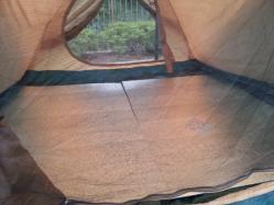 コールマン2ルームテントに銀マット