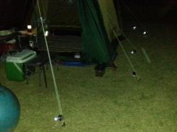 【必見キャンプ生活】 ケシュアテント4人用を更に使いやすくする♪自在金具、引き綱(ロープ)を改善♪
