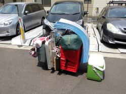 【必見キャンプ生活】 キャンプ道具の運び方♪台車の活用!