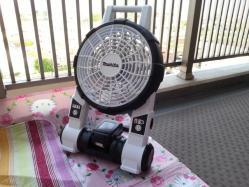 【必見キャンプ生活】 キャンプで充電式マキタ(makita)扇風機ハイパワー涼しい♪