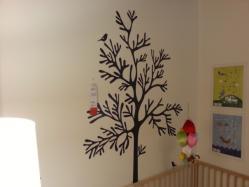 【DIYとインテリア生活】 IKEA(イケア)デコレーションステッカー「MOSSEN」をマンションコンクリート壁インテリアに活用♪