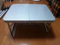 【必見キャンプ生活】 テントリビングルームに最適な大きさの小型テーブルを選定♪
