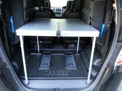 フリード荷物スペースにコールマンテーブルを設置