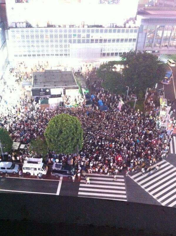 渋谷ハチ公前  選挙フェス