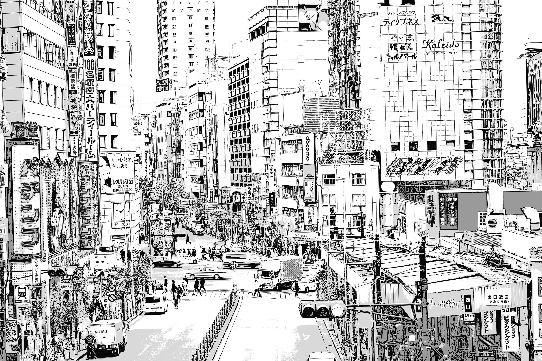 漫画背景・新宿サンプル1