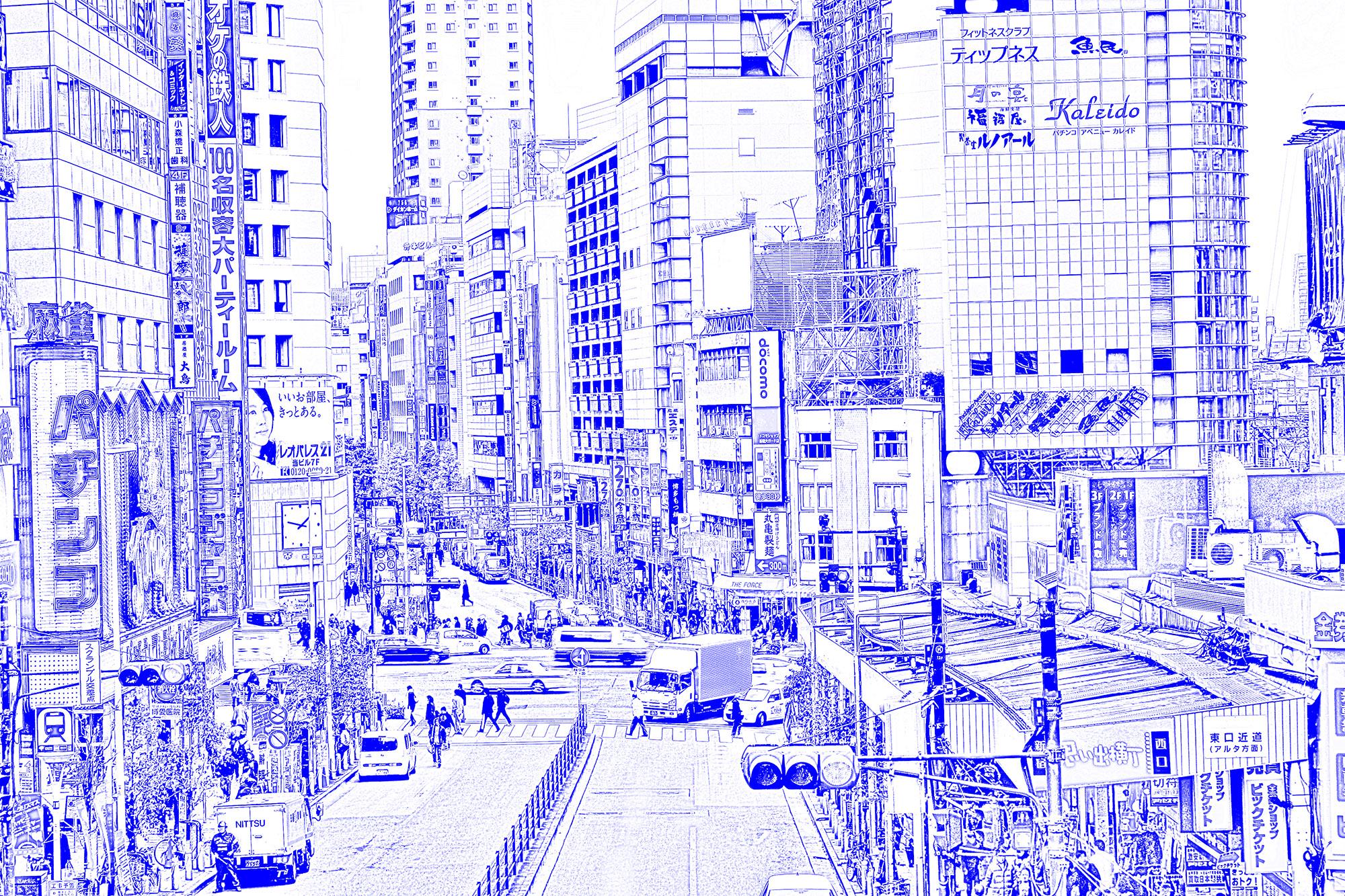 漫画背景・新宿サンプル2