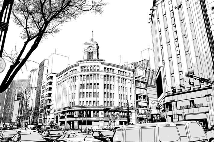 写真加工・漫画背景【銀座001】
