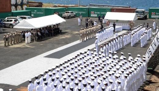 9月19日 ソロモン諸島ホニアラ港にて 戦没者の遺骨引渡式02