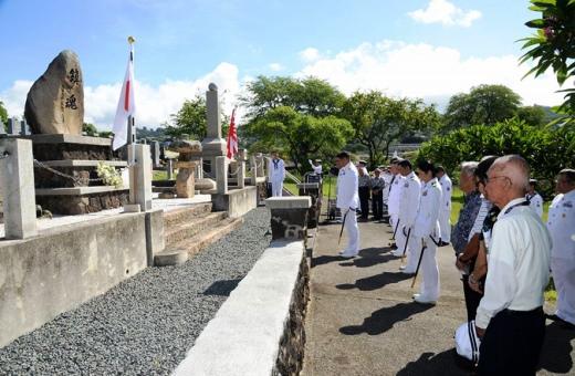 6月4日 パールハーバー マキキ日本海軍基地にて献 花