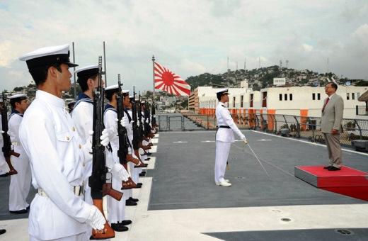 8月4日 駐メキシコ合衆国 目賀田日本国特命全権大使に対する栄誉礼