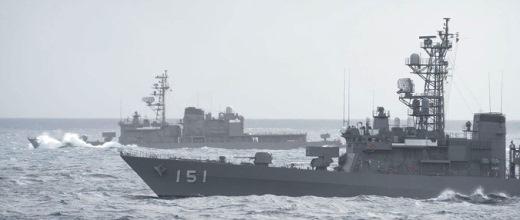 9月7日 オークランド出港後、タスマン海での占位運動(洋上訓練)