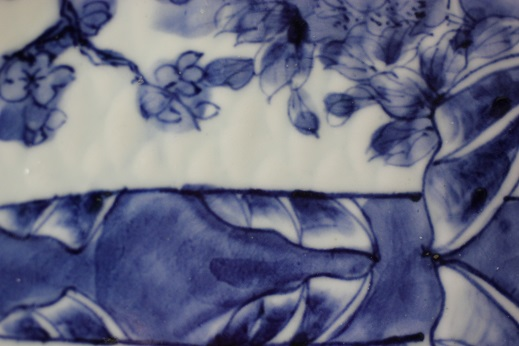 Fish Plate Blue White 021