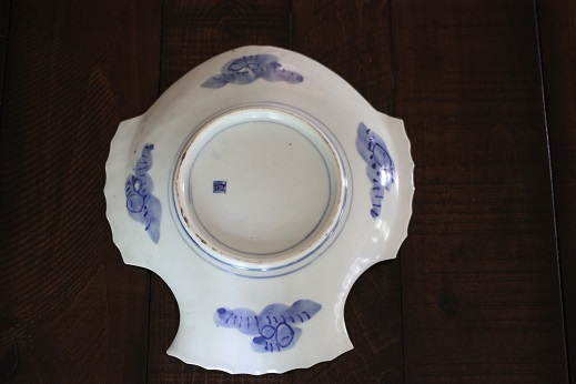 Fish Plate Blue White 018