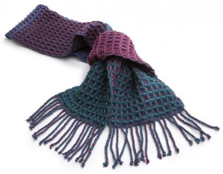 シルクウールワッフル織り