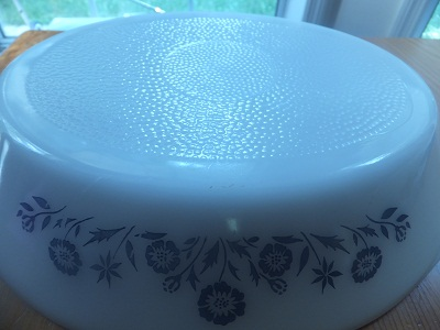 Glasbake ディバイデッド blue flower pattern6