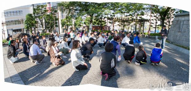 甲府駅前街頭清掃13年5月5日−4