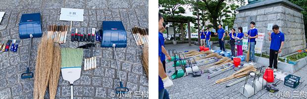 130707甲府駅前街頭清掃活動−1