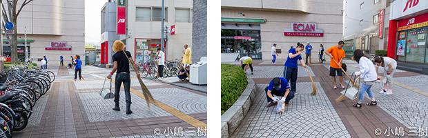 130707甲府駅前街頭清掃活動−5