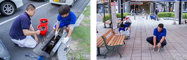 130707甲府駅前街頭清掃活動−8