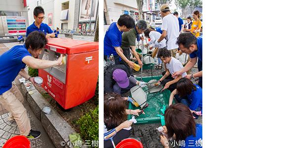 130707甲府駅前街頭清掃活動−11