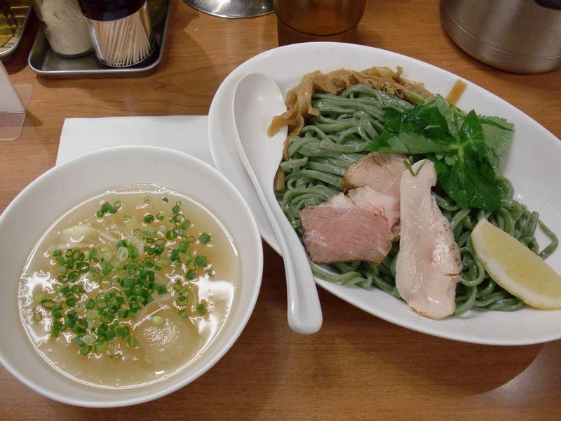福の神食堂@秋葉原・20130818・アオサ冷つけ麺