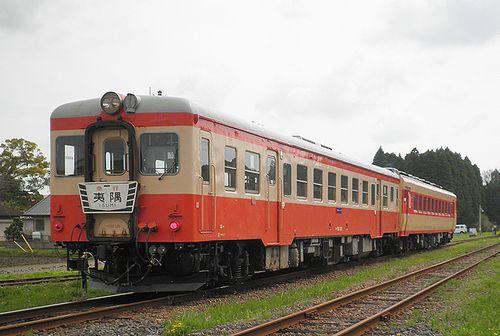 いすみ鉄道・キハ52 125+キハ28 2346(2013年4月6日・国吉駅)
