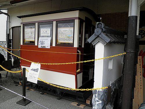 千葉県営人車軌道の「人車」(レプリカ)(いすみ鉄道大多喜駅・2013年4月6日)