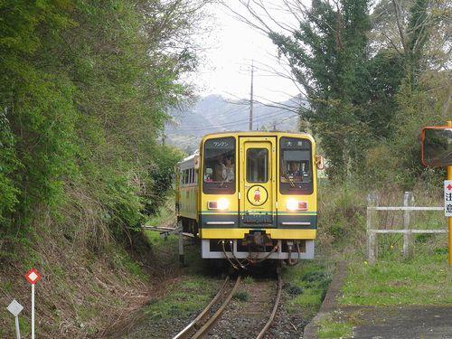いすみ鉄道・いすみ202+206(2013年4月6日・西畑駅)2