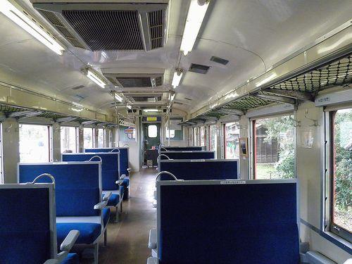 いすみ鉄道・キハ28 2346車内(2013年4月6日)
