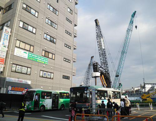 大泉学園駅前再開発工事(2013年4月25日)