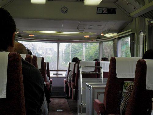 小田急7000形車内(2013年5月11日)