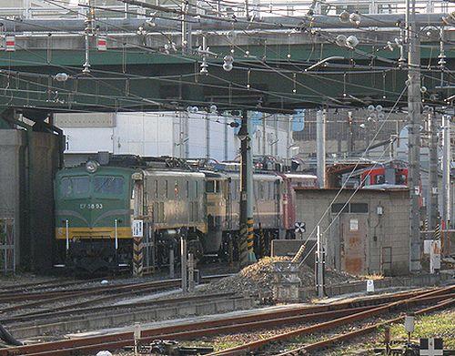 EF58 93・EF60 510・EF80 36(2013年5月15日・大宮総合車両センター本所)