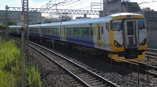 千マリE257系500番代・特急「あやめ」(2012年8月25日・平井駅)