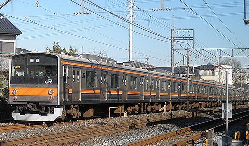 千ケヨ205系M25編成・クハ204-34(2010年12月18日・大宮~土呂間)