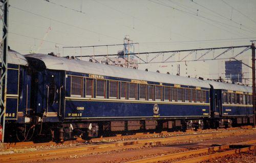 「オリエント急行」来日時(1988年10月・品川運転所)