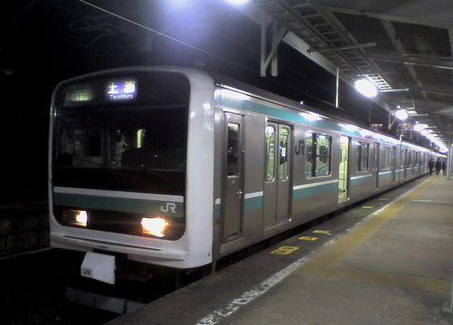 クハE500-1014(水カツ「K -704」編成)(2010年1月2日・いわき駅)