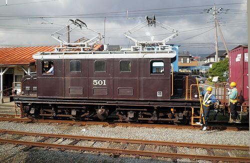 岳南鉄道ED501(2011年10月6日・岳南原田駅)3